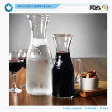 Wholesale high borosilicate hot water glass carafe red wine glass carafe for home