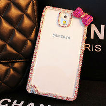 Hard Crystal Slim Cell Phone Case with Diamond for Samsung Galaxy Note 3