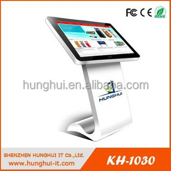 Viewing Angle Adjustable Landscape Touch Screen Information Interactive Kiosk