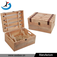 cheap design custom natural pine wood wine crate 6 bottles carrying case