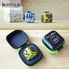 Factory Price fidget cube Camouflage Blue Pattern and Green In Stock
