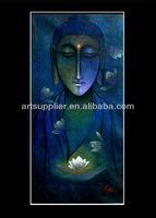 Handpainted indian religious buddha oil paintings on canvas