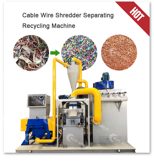 Copper Cable Granulator Scrap Cable Wire Recycling Machine