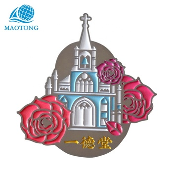China High quality Custom Metal City Souvenir magnets fridge 3d Fridge Magnet with your logo