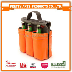 600D polyester fashion 6 bottle tote bag