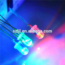 rgb common anode 5mm led dip diode with white diffused lens