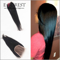Drop ship Cheap lace closure 100% indian virgin hair silky straight hair free part lace closure pieces in stock