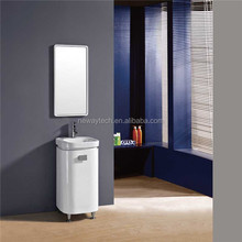 Simple design modern PVC waterproof thin bathroom vanity