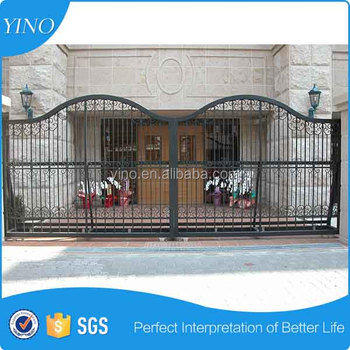 Beautiful iron gate main gate design home IG-1-006