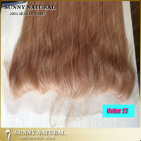 honey blonde #27 human hair lace frontal piece peruvian lace frontal closures with baby hair 13*4