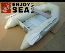 Inflatable fold boats ASM-230-360 light grey aluminium floor with CE certificate!