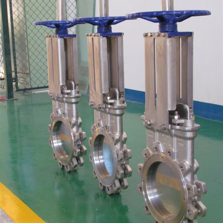 China made low price high quality manual stainless steel natural gas knife gate valve DN200 with hand wheel