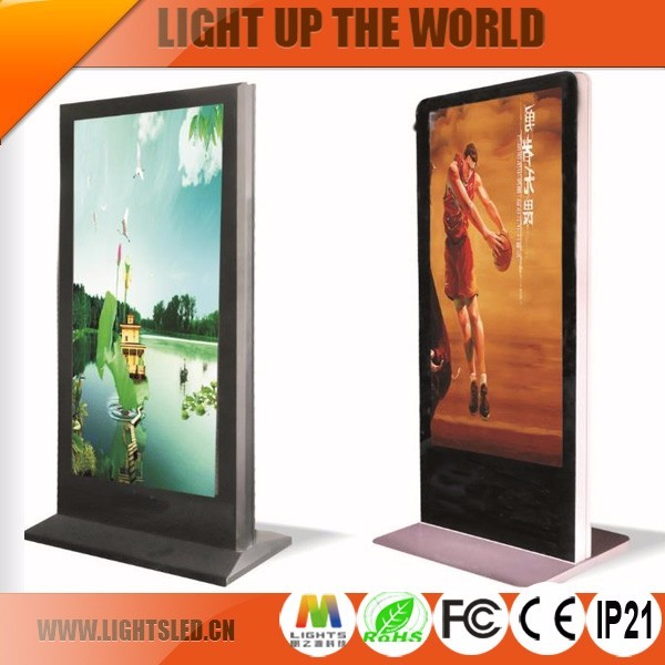 "P3 40"" floor standing china hd led display screen / shoes-polishing outdoor led display board/ full-color digital signage"