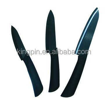 Forever sharp knives with ceramic material and ABS+TPR hanle