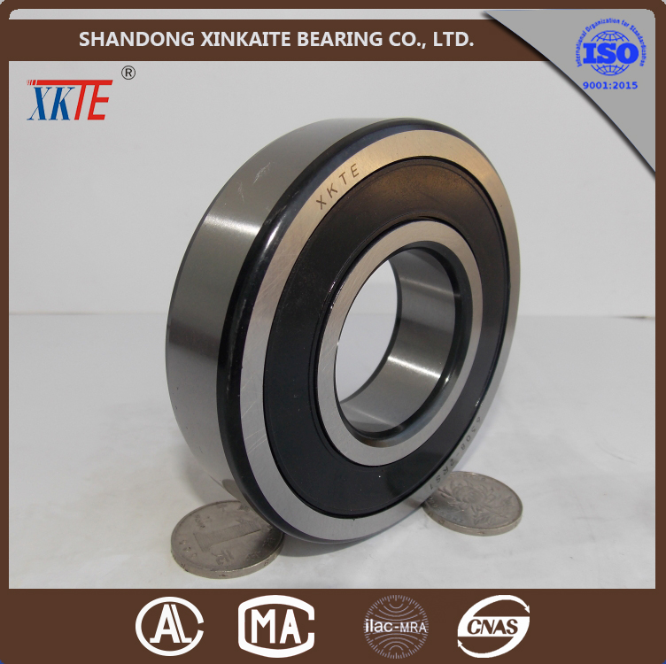 shandong china made rubber seals black corner 6308TN9/C3 deep groove ball bearing for conveyor roller bearing