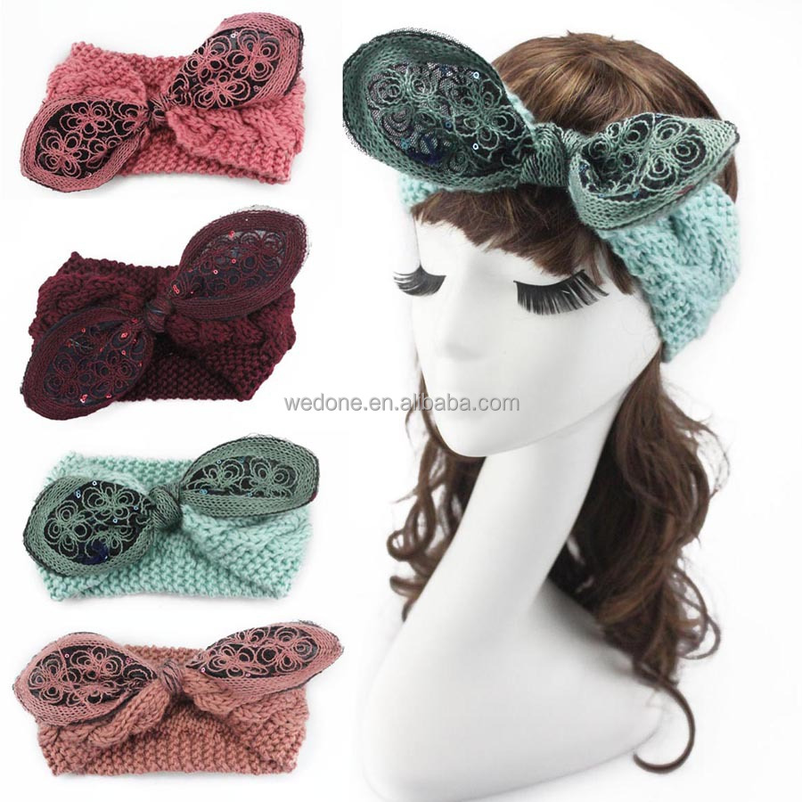 Venta al por mayor headband tejidas a crochet-Compre online los ...