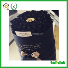 Customized luxury wholesale flower shipping box round hat box for flowers