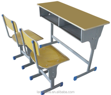 HOT sales, made in china, Double school desk and chair, comfortable for professional