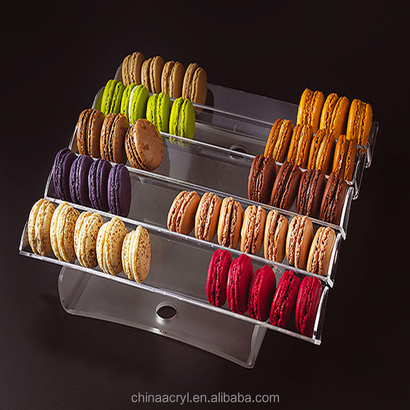 wholesale custom 3 4 5 6 tier acrylic macaron tower stand