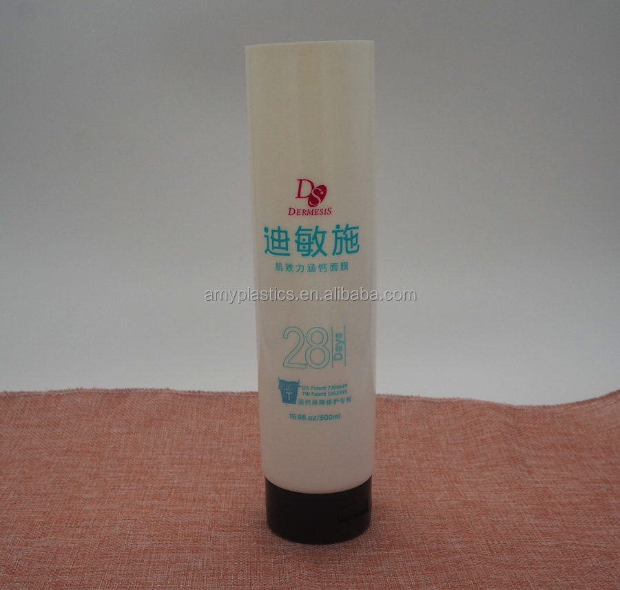 Plastic tube, cosmetic flexible soft tube, diameter 60mm with capacity 500ml
