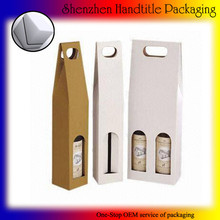 eco paper kraft wine carrier 200ml 2 bottle box