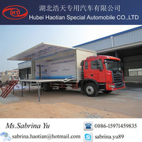 JAC heavy truck , large type roadshow truck , mobile stage truck for roadshow