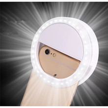 Portable Universal Selfie Ring Flash Lamp Mobile Phone LED Fill Light Selfie Ring Flash Light Camera Photography