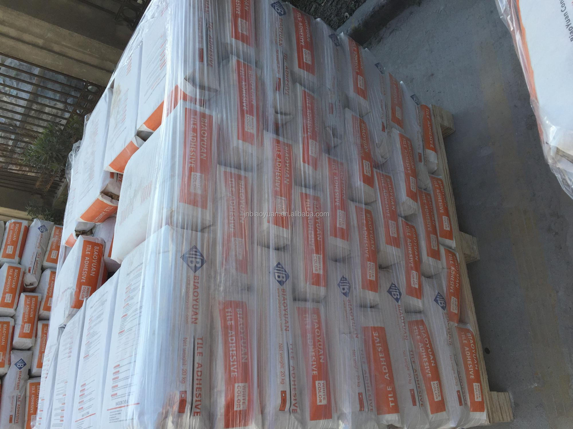 Outdoor White Ceramic Wall Tile Adhesive , High Bond Marble Tile Adhesive