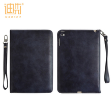 Durable pu leather laptop sleeve tablet stand with hand strap