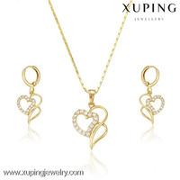 Bridal jewellery dubai jewellery, heart shape jewelry sets artificial jewellery, 14k plated custom jewelry set