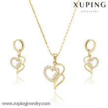 Bridal jewellery dubai jewellery, heart shape jewelry sets artificial jewellery, 14k plated custom jewelry set