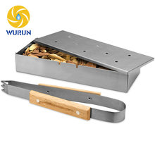 Grilling Accessories Outdoor Barbecue Wood Chips Stainless Steel Smoker Box For BBQ