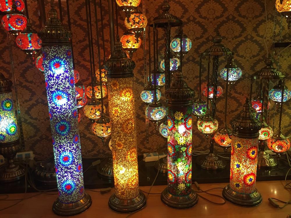 Evershining Lighting Unique Bell Shaped Glass Shape Handmade Turkish Mosaic Table  Lamps WG001