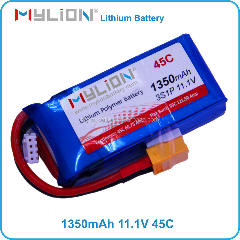 Mylion RC Lipo battery 11.1v 1300mah 45C For FPV or Drone From China Factory