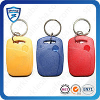 Manufacturing 125Khz resin coated key fob/RFID fob