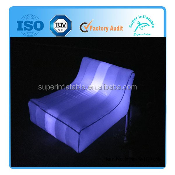 Giant Inflatable Cheap Outdoor LED Sofa