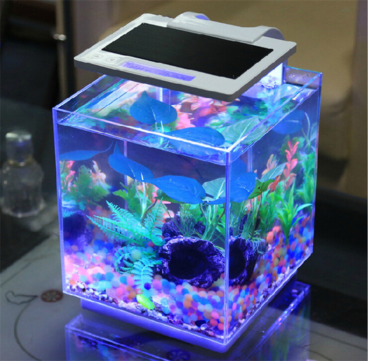 SUNSUN smart dimmable aquarium bar tables small marine fish tank