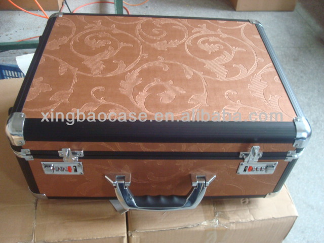Beauty trolley vanity case,hard case trolley bags with pocket,PVC leather trolley case