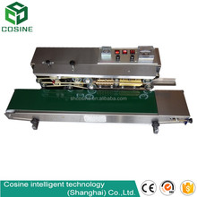 Continuous aluminum induction screw thread cap sealing machine