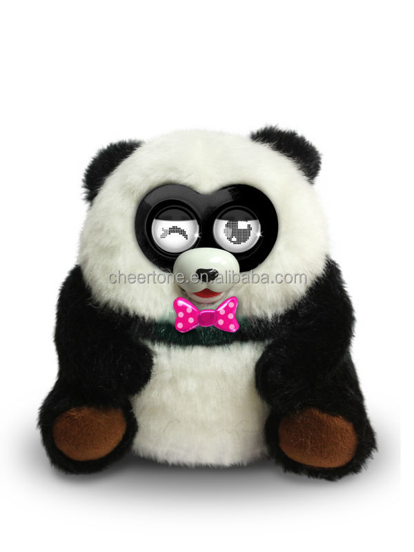 electronic smart pocket pets toys panda with communication function