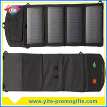 Portable Solar Panel 14W Foldable Power Bank Pack Battery Charger Bag