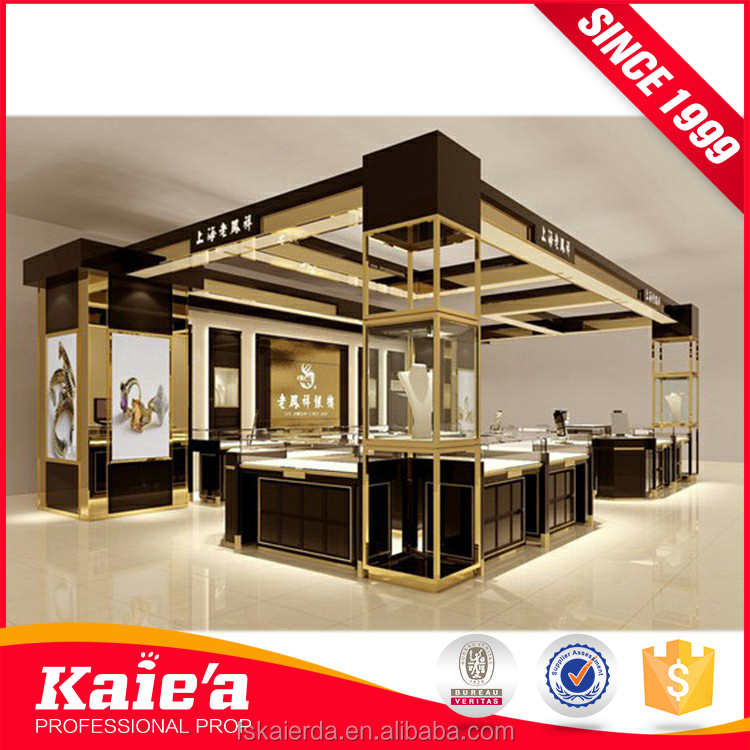2017 Wonderful design metal and glass jewelry wall display