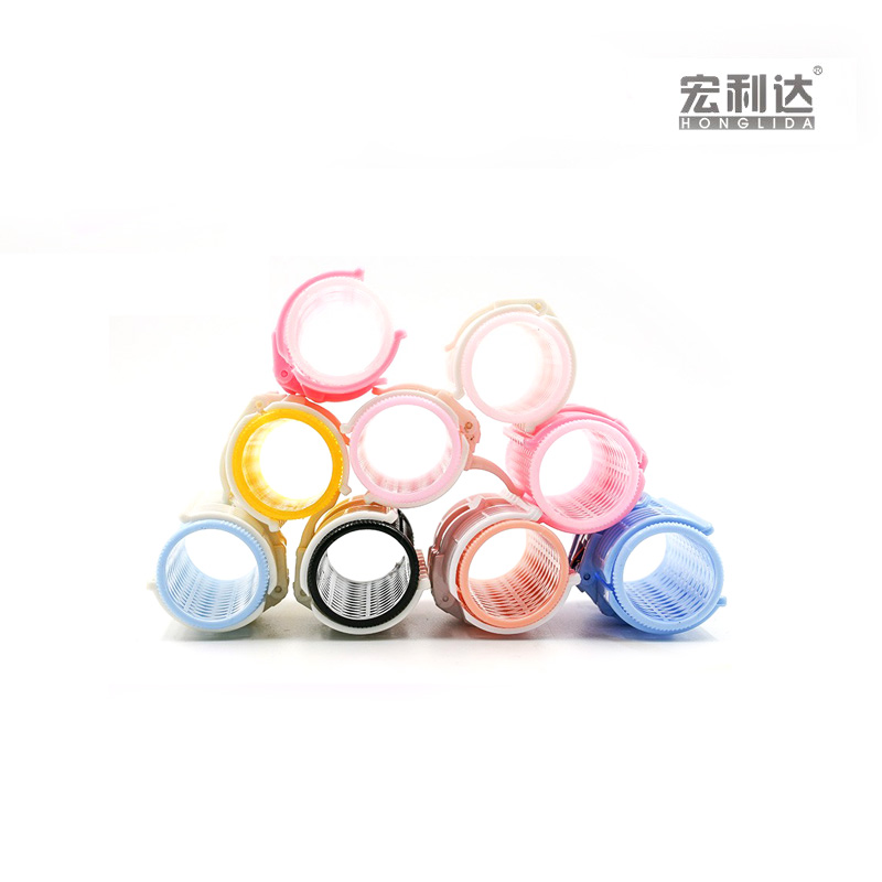 Customized color small plastic easy hair rollers wholesale