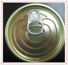 Gold color tin easy open end for cans food packing Y214