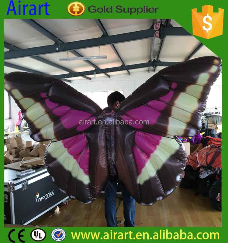 PVC beautiful giant inflatable butterfly for outdoor party show