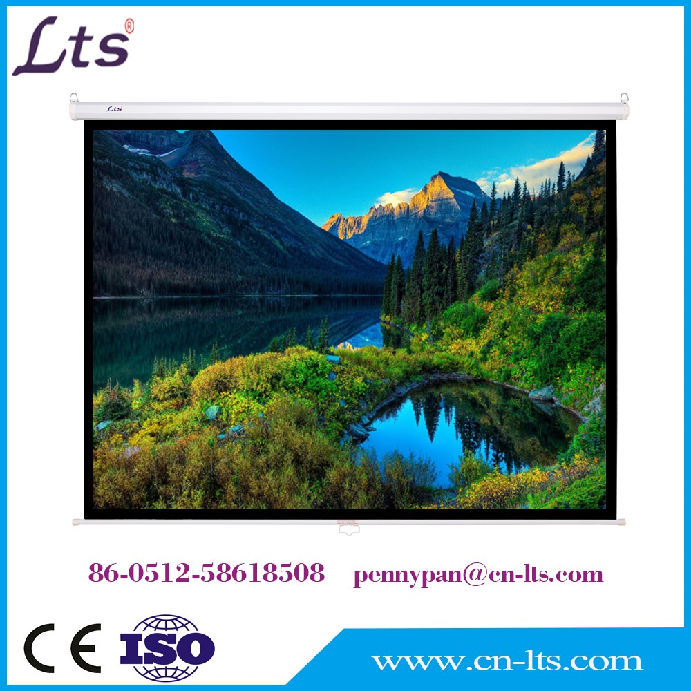 120 inch 4:3 format manual self lock pull down front / rear projection screen projector screen