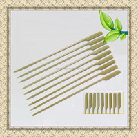 Whosale flat BBQ bamboo sticks&skewers