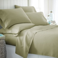 shengsheng hotel 400 thread count 100% cotton fabric 4 pc bed sheet set