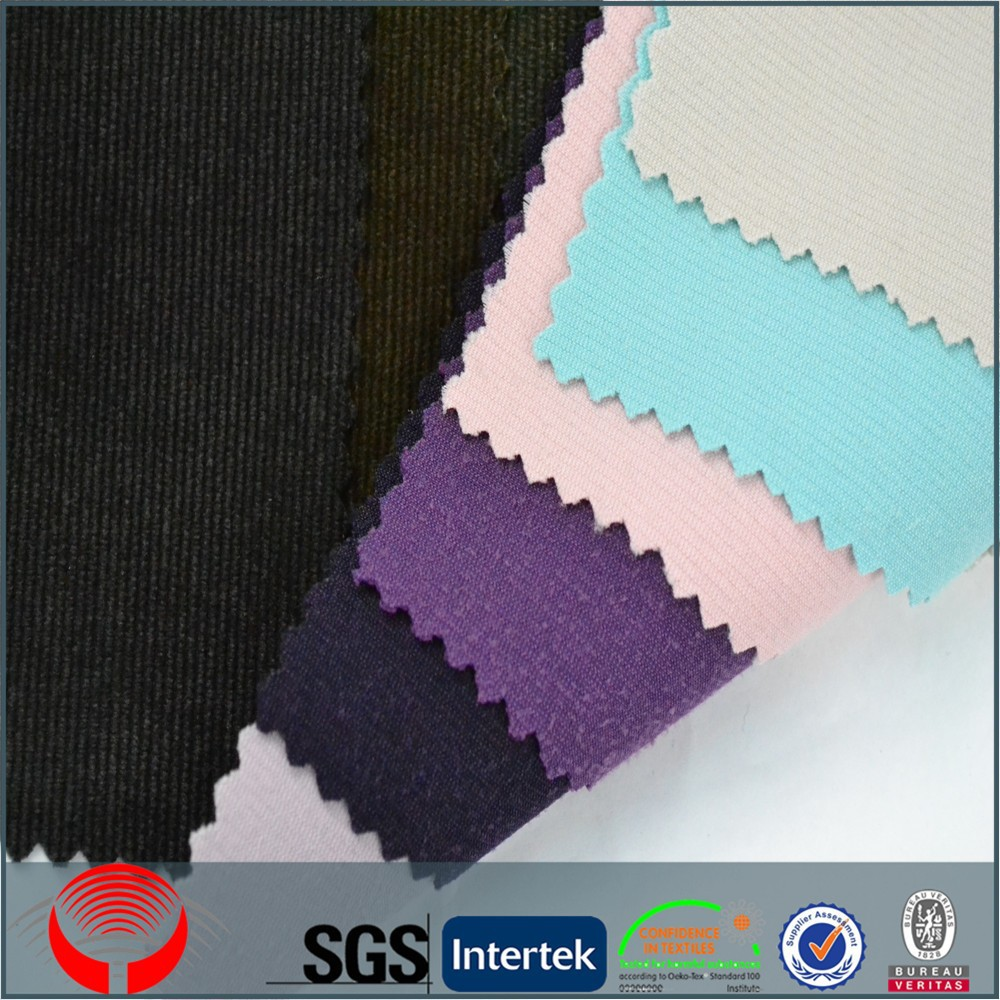 colorful nylon polyester wale corduroy fabric wholesale