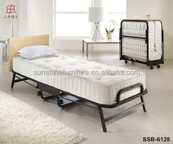 Cheap industrial commercial metal iron single fold out bed for Cheap single mattress